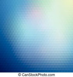 Colorful blue geometric background, abstract triangle...