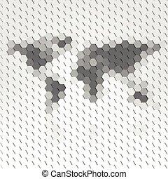 Wereld, kaart, geometrisch, achtergrond, Abstract,...