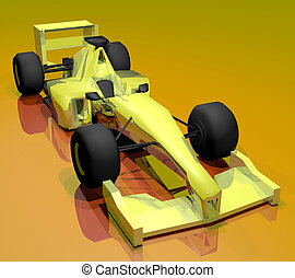 Yellow car - Creative design of Yellow car
