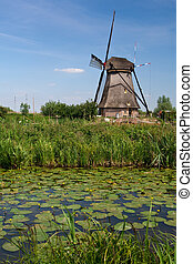Windmill in the Kinderdijk (The Netherlands)