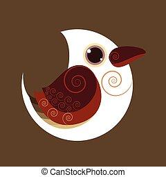 Dacelo novaeguineae bird abstract prehistoric color eps 10...