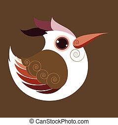 The Hoopoe bird abstract prehistoric color eps 10 vector
