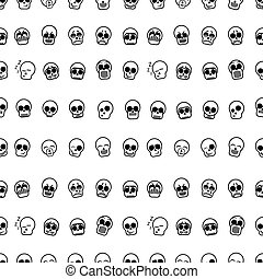 set of icons skull vector