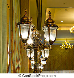 Luxurious Ornate Gold Wall Chandelier Abstract