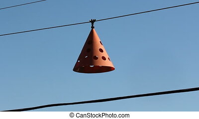 Low flying aircraft cone. - Orange cone used as marker to...