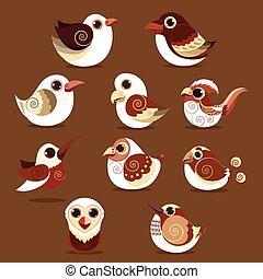 Bird abstract vector collection eps 10 vector