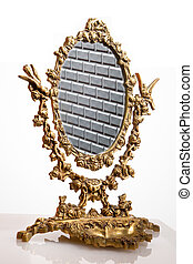 Old mirror - Composition of an ancient mirror accomplished...