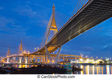 Rama nine bridge - Wonderful Rama nine bridge with twilight...