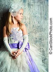 cure princess - Art portrait of a pretty little girl wearing...