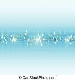 wave medical abstract background