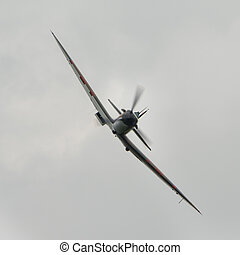 Spitfire British fighter plane - Biggleswade, UK - 29 June...