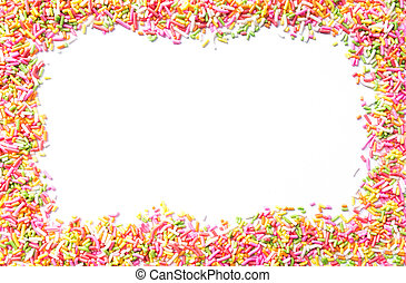 Candy Sprinkles - Colorful candy sprinkles isolated on white...