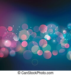 Abstract Christmas light background - Vector illustration...