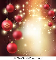 Merry Christmas Bauble greeting card Vector illustration EPS...