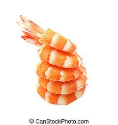 blanco, aislado, Plano de fondo, camarón