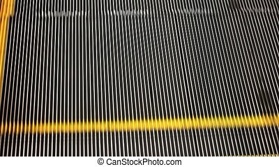 Escalator step close up. HD. 1920x1080 - Escalator step...