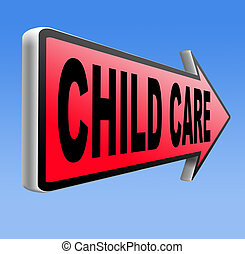 child care in daycare parenting or babysitting protection...