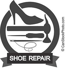 Shoe Repair symbol - Shoe repair business for the vector