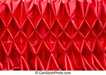 Red closed curtain