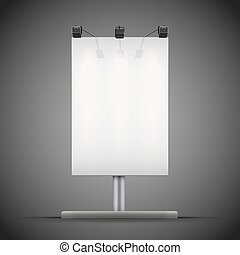 Empty mockup billboard with spotlights and illuminated at...