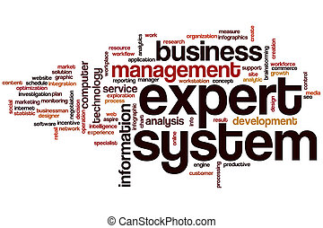 Expert system word cloud concept