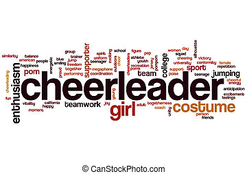 Cheerleader word cloud concept