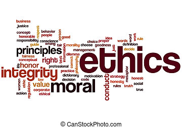 Ethics word cloud concept