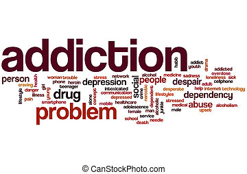 Addiction word cloud concept