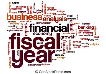 Fiscal year word cloud concept