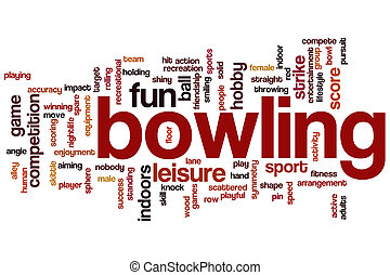 Bowling word cloud concept