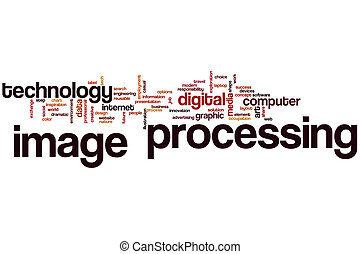 Image processing word cloud concept