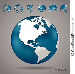 Modern globe design, vector illustration
