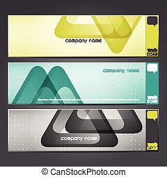 delta banners - new set of modern banners with triangular...