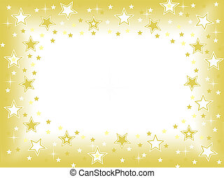 Gold star background with blank center space