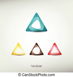 triangle logo - abstract logo template icons graphic design...