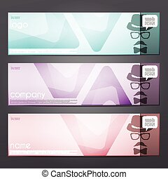 trigon banners - new set of colorful header banners with man...