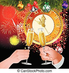 a toast to the new year - A toast to the new year. Five...