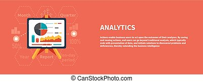 Stand with charts and parameters. Business concept of...