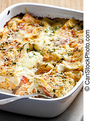 lasagne with salmon