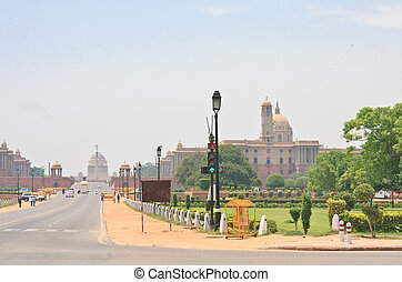 Esplanade Rajpath The Indian government buildings Residence...