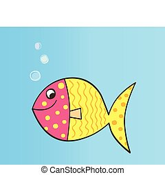 Vector cartoon fish - Colorful cartoon fish. Vector...