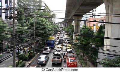 Bangkok, Thailand 31 july 2014. Traffic day at Central World. HD. 1920x1080