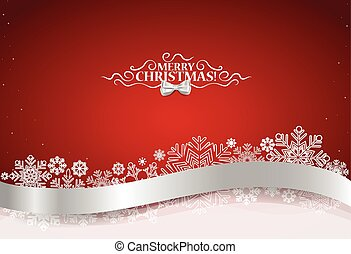 Christmas background with shiny ribbon on red background....