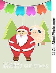 Vector New Year Illustration With Christmas Characters and...