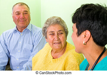 Health insurance - Photo of happy elderly couple with the...