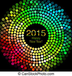Happy New Year 2015 - An abstract illustration on Happy New...