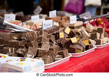 selection of sweet fudge