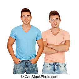 Sexy twins with shirts