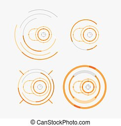 Thin line neat design logo set, camera concept - Thin line...