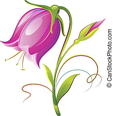 Bell-flower - Vector Bell-flower. Decorative. Isolated on...